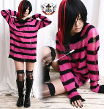 Punk Ladder Sweater Knit Pullover/Dress HOT PINK Stripe
