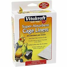 "512071 7-Pack Super Absorbent Cage Liners For Birds 20"" X 18"" Vitakraft"