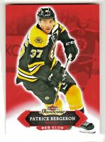 2016-17 UD Fleer Showcase RED GLOW Parallel #17 PATRICE BERGERON Boston Bruins