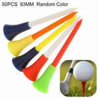 50 Stk Golf Tees Gummi Kunststoff Plastik Tee Kissen Halter 83mm Rubber