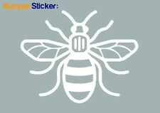 Manchester Bee Bumper Car ipad Sticker (WHITE) - HIGH QUALITY VINYL DECAL