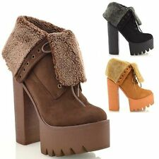 Block Heel Lace Up Synthetic Formal Boots for Women