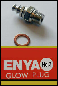 10x ENYA Glow Plug (std) Number 3 (hot) *UK STOCK*