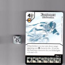 DICE MASTERS DEADPOOL COMMON #15 FANTOMEX MISDIRECTION CARD & DICE