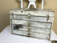Vintage 3 drawers tool box        LOOKING FOR A HOME !!