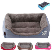 Calming Small Large Dog Bed Waterproof Bottom Dogs Sofa Beds Cat Cushion Basket
