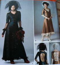 LOVELY GOTH STEAM PUNK DRESS Sewing Pattern 12-14-16-18-20 UNCUT