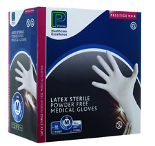 M STERILE MEDICAL GLOVES PREMIER LATEX POWDER FREE White Disposable
