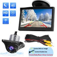 "Car Mini Side/Front/Backup Camera + 5"" LCD Rear View Monitor Reverse Parking Kit"