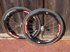 Zipp 404 Carbon Tubular Wheelset 650c 10 speed Shimano/Sram Hub