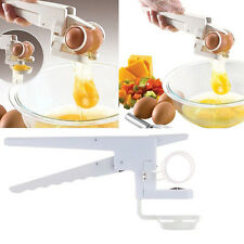 EZ Egg Cracker Handheld York & White Separator On TV Kitchen Gadget Tool For Mom