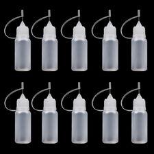 10x 10ml Empty Vape Bottles E Pen Juice Liquid Needle Tip Dropper Filler Groovy