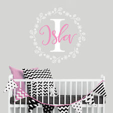 Personalised Baby Nursery Wall Sticker Wall Decal Bedroom Girl Mural Decor