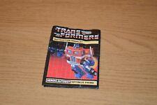 Transformers G1 OPTIMUS PRIME Instruction Booklet 1984 C8