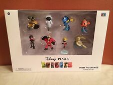 DISNEY PIXAR 8 PIECE GIFT SET MINI ACTION FIGURES WALL-E, EVE, ECT BRAND NEW
