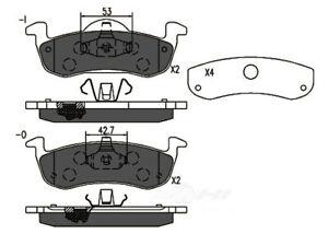 Disc Brake Pad Set-TSS Semi-Metallic Pads Rear Dash 4 Brake TD1279M