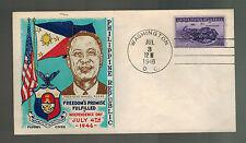 1946 USA Patriotic Cover Washington DC Fluegel Philippines Independence Day