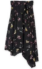 Country Road Winter Floral Wrap Skirt sz8 Black Floral RRP$199