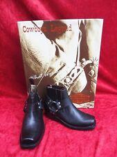 Hermoso Botas de Cowboy __ Talla 37 __ Cuero __ Negro __ Nuevo __ Legend __