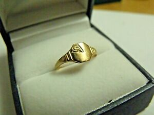 Vintage 9ct Gold kids / small fingers Ring Size G 1/2  Hallmarked