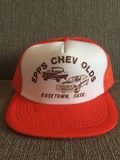 Vtg Epp's Chev Olds Trucker Hat Mesh Snap Back Rosetown Saskatchewan Chevrolet