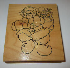 Teddy Bear Santa Rubber Stamp Bag of Toys Christmas Daisy Kingdom Boots Hat Belt