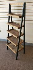 **NEW** Old Red Barn Black/Walnut Ladder Shelf