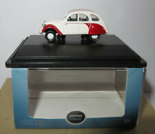 OXFORD CITROEN 2CV DOLLY RED WHITE SCALE 1/76 IN BOX #76CT003