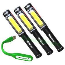 3 Pack NEBO 6306 Big Larry 400 Lumen COB LED (Black) WorkLight w/AA Batteries