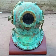 Anchor Engineering Old Rare Antique Maritime Diving Helmet with Base- Replica