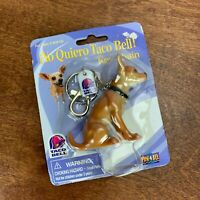 Vintage 1998 Rare in Package Yo Quiero Taco Bell Dog Keychain Key Ring