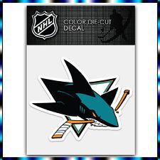 "San Jose Sharks NHL Die Cut Vinyl Sticker Car Bumper Window 3.4""x4"""