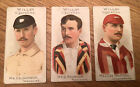Cigarette Cards Wills Cricketers 1901 X 3