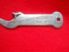 Vintage JACOB SCHMIDT BEER Bottle Opener / ST PAUL MINNESOTA Vaughan Chicago