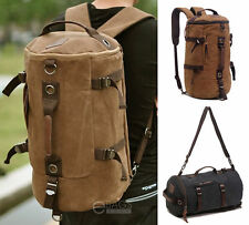 Travel Canvas Rucksack Trekking Shoulder School Camping Hiking Bag Backpack New