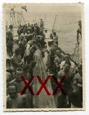 KREUZER KARLSRUHE - orig. Foto, Äquatortaufe, Linientaufe,Juli 1932