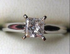 2.03CT PRINCESS CUT DIAMOND SOLITAIRE SIMPLE ENGAGEMENT RING 14CT WHITE GOLD