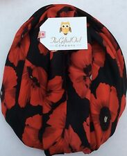 GIANT POPPY FIELD RED & BLACK SOFT QUIRKY FLOWER SCARF SHAWL WRAP GIFT POPPIES