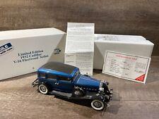 """Sovereign Blue"" 1932 Cadillac V16 Fleetwood Sedan Ltd Ed Danbury Mint 1:24"