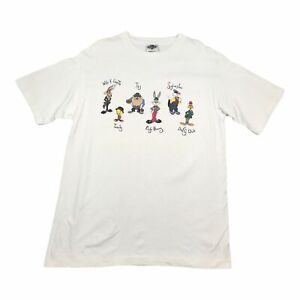 1991 Vintage WARNER BROS LOONEY TUNES Mens T Shirt Large | Single Stitch ACME