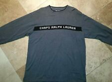 Chaps Ralph Lauren Crew Neck Sweater 100% Cotton Gray XL