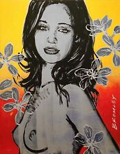"""DAVID BROMLEY Nude """"Gillian With Flowers"""" Signed Limited Edition Print, 70 x 55"""
