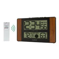 513-1417Ch La Crosse Technology Atomic Digital Wall Clock with Tx141-Bv2 Sensor