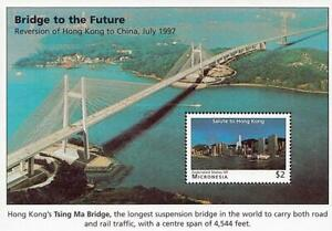 👉 MICRONESIA 1997 HONG KONG returns to CHINA S/S MNH BRIDGES, ARCHITECTURE