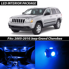 2005-2010 Jeep Grand Cherokee Blue Interior LED Lights Package Kit