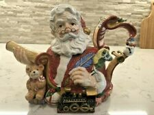 "Vintage Fitz And Floyd ""Santa's List"" Teapot, 1994, 33oz, ""Rare"""