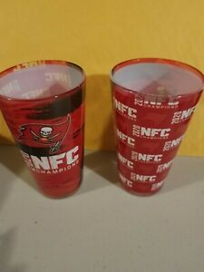 2020 NFC Champions Tampa Bay Buccaneers Sublimated Pint Glass 16oz