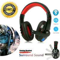 Wireless Pro Gaming Headset Headphones Stereo w/ Mic for PC
