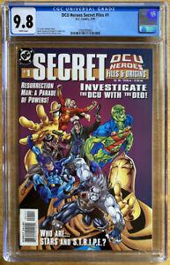 DCU Heroes Secret Files #1 CGC 9.8. DC 1999. Origin of Stargirl!