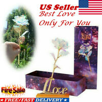 Galaxy Rose Flower Valentine's Day Lovers Gift Crystal Rose With Box Romantic US